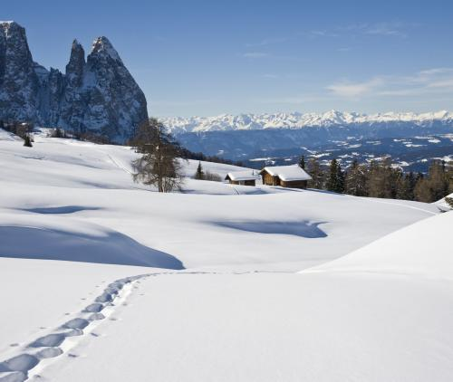 Magical winter in the Dolomites